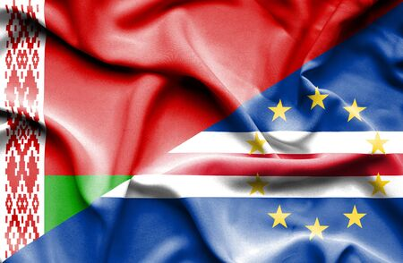 cape verde: Waving flag of Cape Verde and Belarus