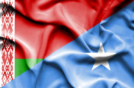 somalian culture: Waving flag of Somalia and Belarus