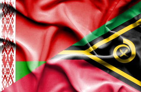 vanuatu: Waving flag of Vanuatu and Belarus