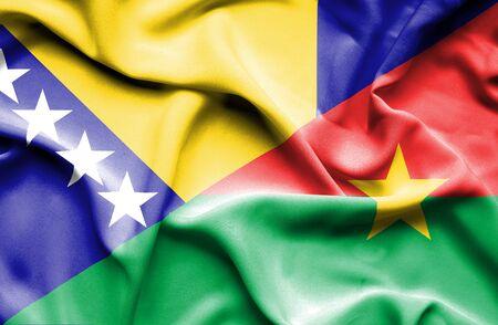 bosnia and herzegovina flag: Waving flag of Burkina Faso and Bosnia and Herzegovina