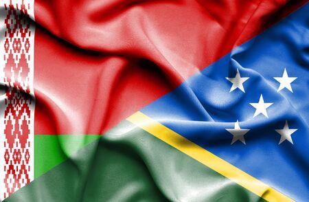 solomon: Waving flag of Solomon Islands and Belarus