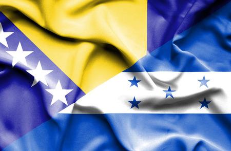 bosnia and herzegovina flag: Waving flag of Honduras and Bosnia and Herzegovina