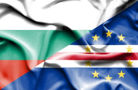 cape verde: Waving flag of Cape Verde and Bulgaria