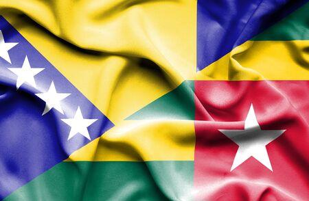 bosnia and herzegovina flag: Waving flag of Togo and Bosnia and Herzegovina