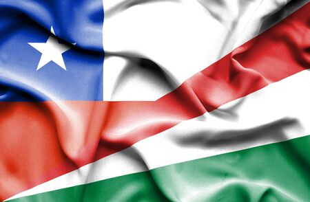 seychelles: Waving flag of Seychelles and Chile