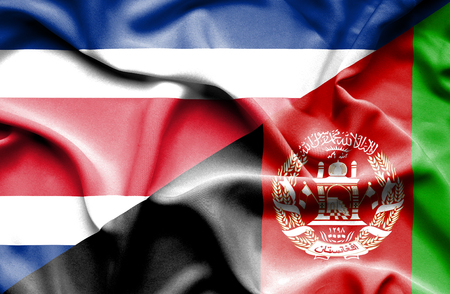 rican: Waving flag of Afghanistan and Costa Rica