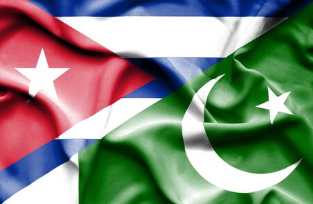 cuban flag: Waving flag of Pakistan and Cuba