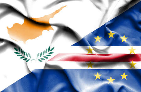 cape verde: Waving flag of Cape Verde and Cyprus