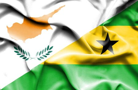 principe: Ondeando la bandera de Santo Tomé y Príncipe y Chipre