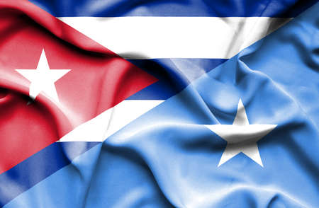 somalian culture: Waving flag of Somalia and Cuba
