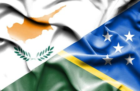 solomon: Waving flag of Solomon Islands and Cyprus