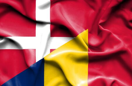 chad: Waving flag of Chad and Denmark