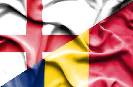 chad: Waving flag of Chad and England