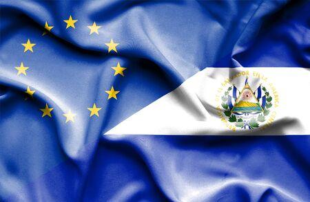 el: Waving flag of El Salvadorand