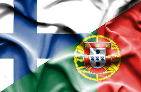 portugese: Waving flag of Portugal and Finland