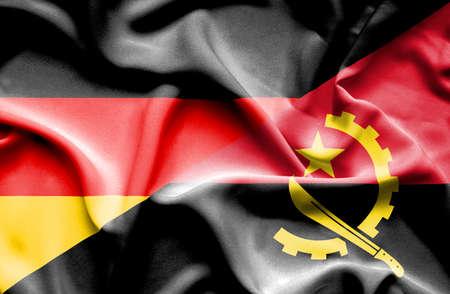 angola: Angola waving flag