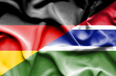 gambia: Waving flag of Gambia and