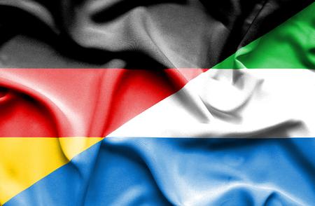 sierra: Waving flag of Sierra Leone and