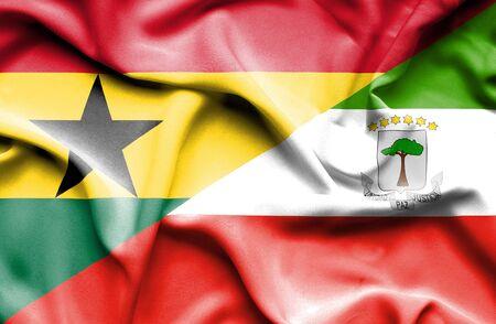 equatorial: Waving flag of Equatorial Giuinea and Ghana