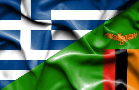 zimbabue: Ondeando la bandera de Zimbabwe y