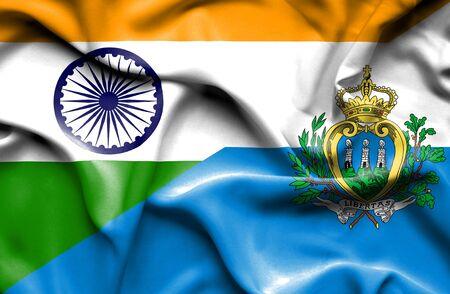 marino: Waving flag of San Marino and