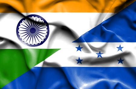 immigrant: Waving flag of Honduras and