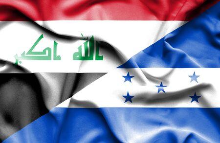 iraq money: Waving flag of Honduras and Iraq