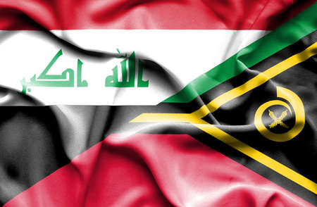 iraq money: Waving flag of Vanuatu and Iraq
