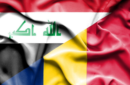 chad: Waving flag of Chad and Iraq