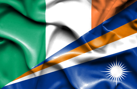 marshall: Waving flag of Marshall Islands and Ireland