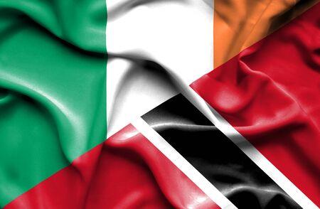 tobago: Waving flag of Trinidad and Tobago and reland