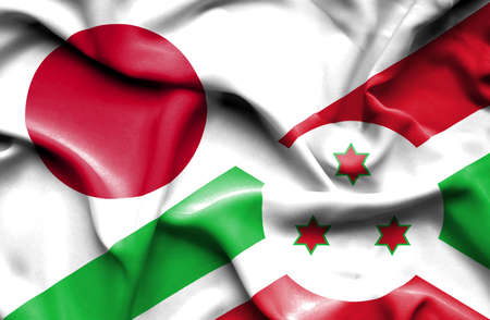 burundi: Waving flag of Burundi and
