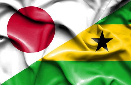 principe: Ondeando la bandera de Santo Tomé y Príncipe y