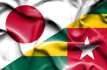 togo: Waving flag of Togo and