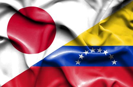 immigrant: Waving flag of Venezuela and Stock Photo