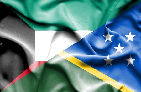 solomon: Waving flag of Solomon Islands and Kuwait