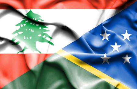 solomon: Waving flag of Solomon Islands and Lebanon