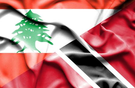 tobago: Waving flag of Trinidad and Tobago and  Lebanon