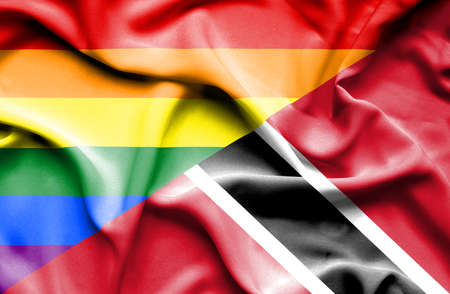 trinidad and tobago: Waving flag of Trinidad and Tobago and