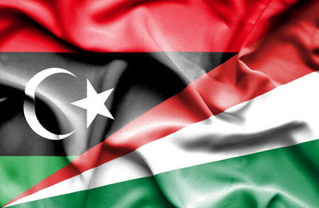 seychelles: Waving flag of Seychelles and Libya