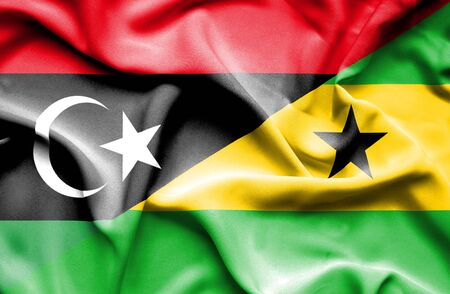 principe: Ondeando la bandera de Santo Tomé y Príncipe y Libia