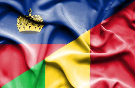 lichtenstein: Waving flag of Mali and Lichtenstein