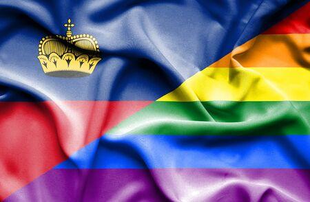 lichtenstein: Waving flag of Pride and Lichtenstein