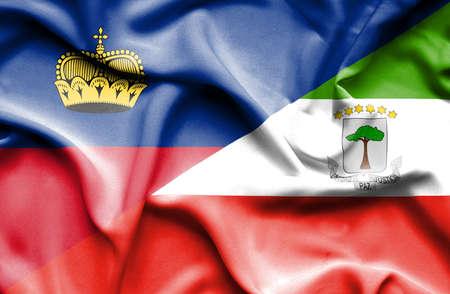lichtenstein: Waving flag of Equatorial Giuinea and Lichtenstein