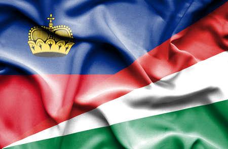 lichtenstein: Waving flag of Seychelles and Lichtenstein