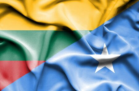 somalian culture: Waving flag of Somalia and Lithuania