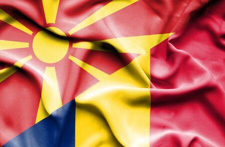 chad: Waving flag of Chad and Macedonia