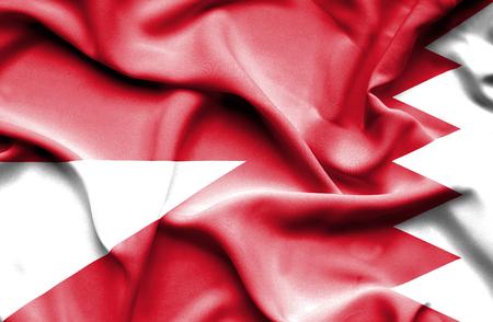 bahrain money: Waving flag of Bahrain and Monaco
