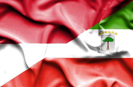 equatorial: Waving flag of Equatorial Giuinea and Monaco
