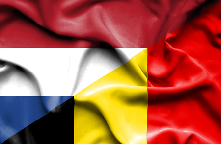 immigrant: Waving flag of Belgium and